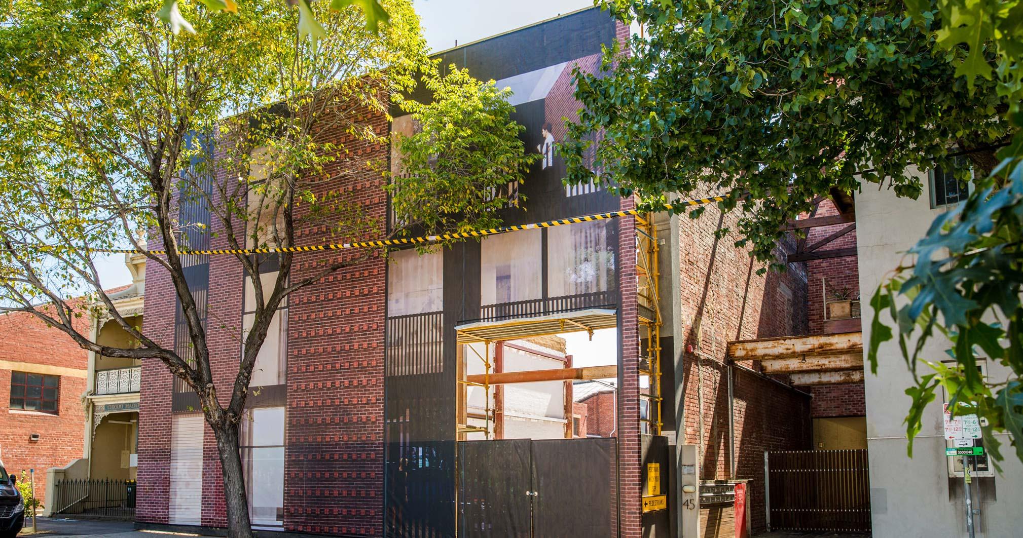 Leveson Place Facade - Under Construction